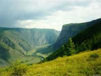Долина р. Чулышман, впадающей в оз. Телецкое