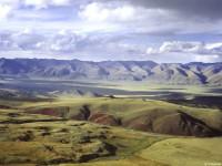 Вид на долину реки Каргы и хребет Цаган-Шибету